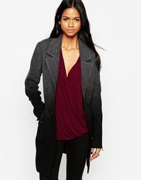 Двубортное пальто с эффектом деграде mbyM - 640 темно-серый