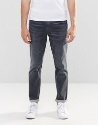 Выбеленно-серые узкие джинсы BOSS Orange - Серый
