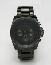 Черные часы из нержавеющей стали Michael Kors Brecken MK8482 - Черный