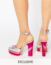 Туфли на каблуке с розовой отделкой Terry de Havilland Direction