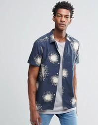 Рубашка с короткими рукавами и принтом YMC - Темно-синий