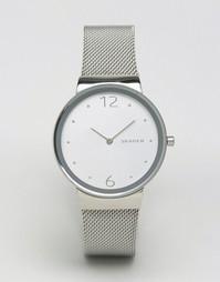 Серебристые часы Skagen Freja SKW2380 - Серебряный
