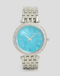 Часы с серебристой и синей отделкой Michael Kors Darci MK3515
