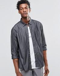 Рубашка с короткими рукавами и бейсбольным воротником YMC - Серый