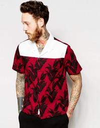Рубашка с воротником с лацканами и принтом Wood Wood - Plan