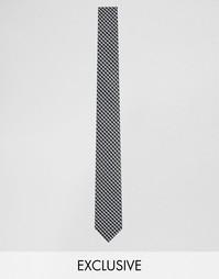 Черный галстук в клетку Reclaimed Vintage - Черный
