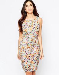 Цельнокройное платье с цветочным принтом Poppy Lux Opal - Сандалии