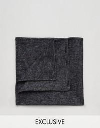 Черный платок для пиджака Reclaimed Vintage - Черный