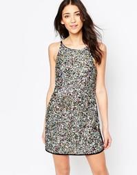 Платье-футляр с отделкой пайетками Glamorous - Многоцветные пайетки
