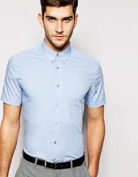 Рубашка зауженного кроя с короткими рукавами PS Paul Smith - Sky