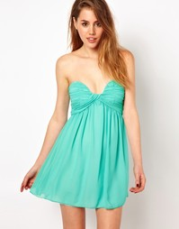 Платье-бандо для выпускного Glamorous - Зеленый