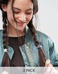 Набор из двух резинок для волос ограниченной серии с кубиками - Мульти Asos