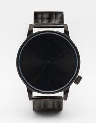Металлические часы с черным циферблатом Komono Winston Royale - Черный
