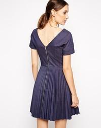 Платье со складками на молнии сзади Antipodium - Indigo - индиго