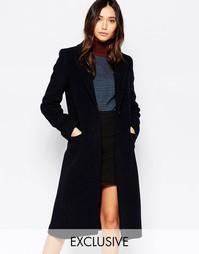 Длинное фактурное пальто Helene Berman
