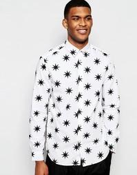 Рубашка со звездами Love Moschino - Белый