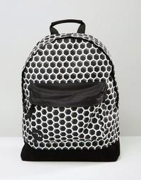 Черный рюкзак с принтом медовые соты Mi-Pac - Черный