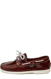 Кожаные топсайдеры с контрастным шнурком Atlanta Mocassin