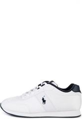 Кроссовки со вставками и логотипом бренда Polo Ralph Lauren