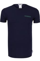Комплект из двух разноцветных футболок с логотипом бренда Dirk Bikkembergs