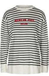 Льняная футболка в полоску с длинным рукавом Isabel Marant Etoile