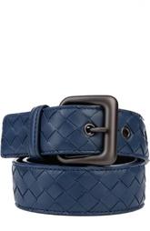 Кожаный ремень с плетением intrecciato Bottega Veneta
