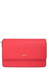 Кожаная сумка с клапаном DKNY