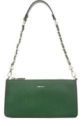 Кожаная сумка с молниями DKNY