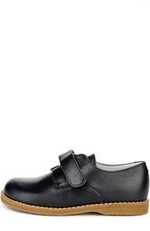 Кожаные туфли с застежкой велькро и рантом Beberlis