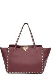 Кожаная сумка с металлической отделкой Valentino
