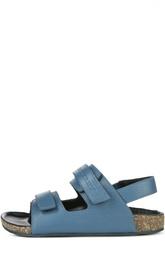 Кожаные сандалии с двумя застежками велькро Burberry