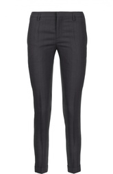 Укороченные брюки со стрелками и врезными карманами Martin Margiela