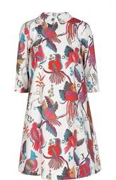 Платье-рубашка свободного кроя с ярким принтом Stella Jean