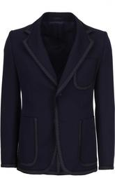 Шерстяной пиджак с декоративным кантом Alexander McQueen