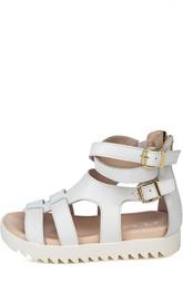 Кожаные сандалии с двумя пряжками Clarys