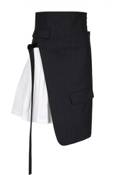 Мини-юбка асимметричного кроя DKNY