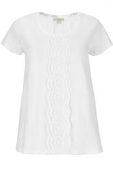 Расклешенная футболка с кружевной вставкой Burberry Brit
