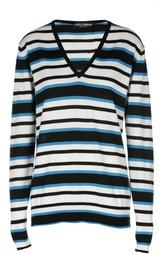 Кашемировый вязаный пуловер в полоску Dolce & Gabbana