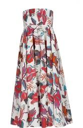Платье-бюстье с завышенной талией и ярким принтом Stella Jean