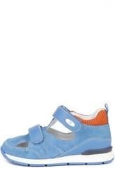 Замшевые сандалии с двойной застежкой велькро Falcotto