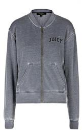 Куртка на молнии с карманами и контрастной надписью Juicy Couture