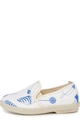 Слипоны с кожаной отделкой и принтом Rivieras Leisure Shoes