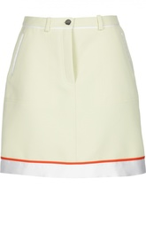Мини-юбка А-силуэта с контрастной отделкой Carven