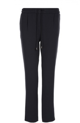 Прямые брюки с защипами и эластичным поясом HUGO BOSS Black Label