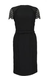 Приталенное платье с кружевной отделкой Escada