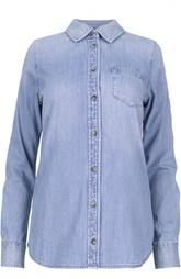 Джинсовая блуза свободного кроя с накладным карманом Ag