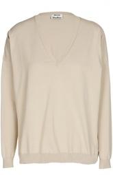 Пуловер прямого кроя с V-образным вырезом Acne Studios