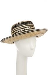 Соломенная шляпа с декоративными помпонами Yosuzi