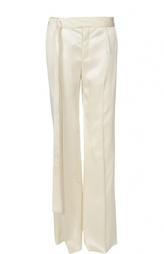 Расклешенные брюки с разрезами и поясом Calvin Klein Collection