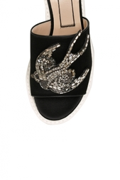 Открытые туфли из шелка и вискозы No.21